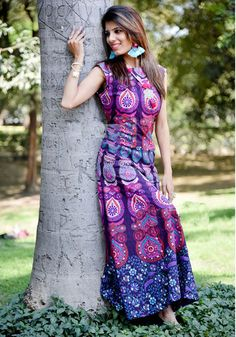 Ethical Dresses – Gypsy Style Boho Cotton Floral Women Mandala Dress – a unique product by IndianCraftPalace on DaWanda