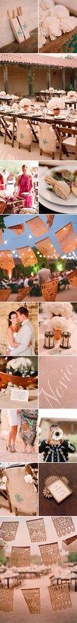 spanish style wedding.  Love the spanish bunting!