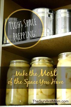 Survival Mom | Tight Space Prepping: Make The Most Of The Storage Space You Have  | www.TheSurvivalMom.com