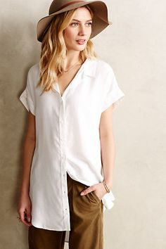 Luna Buttondown Tunic #anthropologie