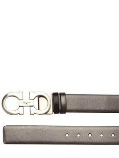 Salvatore Ferragamo - Mediterraneo Leather Belt by Salvatore Ferragamo
