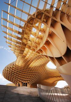 Metropol Parasol wood structure Sevilla Spain photo by mistinesseye