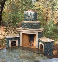 Excellent Outdoor Fireplace Pictures Design Inspirations: Corner Outdoor Fireplace Kits | Home Decorators