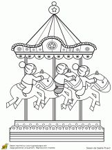 At the fair coloring pages coloring pages for kids pinterest coloring the o 39 jays and - Coloriage fete foraine ...