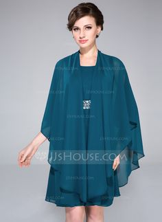 Wraps - $29.99 - 3/4-Length Sleeve Chiffon Special Occasion Wrap (013047451) http://jjshouse.com/3-4-Length-Sleeve-Chiffon-Special-Occasion-Wrap-013047451-g47451