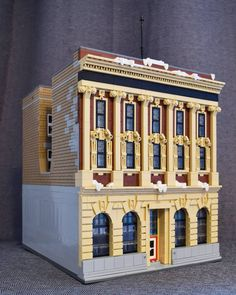 Banks Building, Lego Building, Union Bank, Lego Store, Brick Loft, Lego Modular, Local Architects, Lego Architecture, Lego House