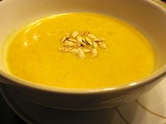 Creamy Sweet Potato and Butternut Squash Soup..in the Crockpot