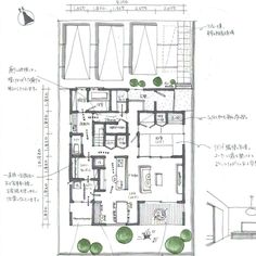写真の説明はありません。 Floor Plans, Photo And Video, How To Plan, House, Instagram, Design, Videos, Photos, Hand Drawn