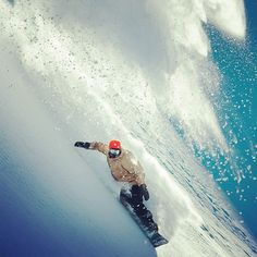 """Surfing an avalanche (snowboarding). ~ Miks' Pics """"People ll"""" board @ http://www.pinterest.com/msmgish/people-ll/"""