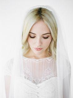 OLIVIA | floor length wedding veil | Percy Handmade