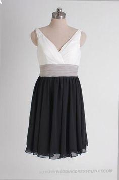 Gorgeous Sleeveless A-line Bridesmaid Dress-two Tone01_1