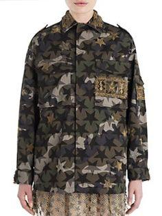 Valentino - Camouflage Printed Jacket