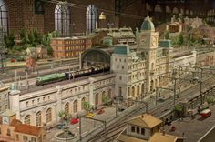 A stunning replica of a train station at the Hara Model Railway Museum