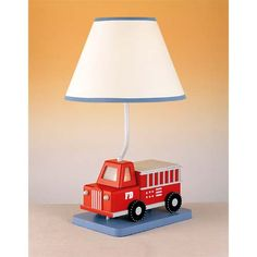 Firetruck Lamp Cal Lighting Shaded Table Lamps Lamps
