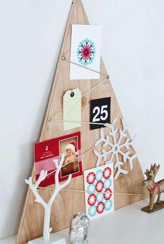 Sapin de Noël et contreplaqué, c'est tellement simple comme idée de sapin de Noël. Christmas Tree wood