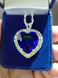 my heart of the ocean necklace Ocean Heart, My Heart, Heart Ring, Real Titanic, Sapphire, Ships, Rings, Stuff To Buy, Accessories
