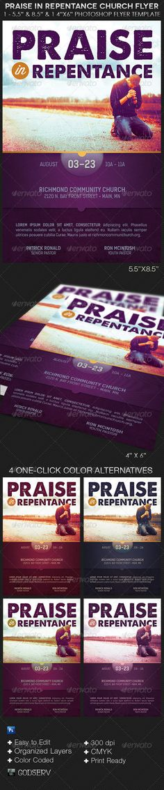 Gospel Pop Artist Concert Flyer Poster Template Concert flyer - benefit flyer template