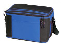Deluxe 12 Pack Poly Cooler [Royal/Black] - Style #023 Case Pack 24