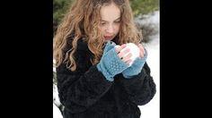 Knitted Fingerless Gloves - YouTube