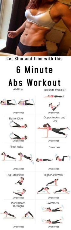 Get Slim and Trim with this 6 Minute Abs Workout #health #fitness #diy #workout #gym #cardio #body #beauty