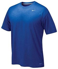 Nike Men's Legend Short Sleeve Tee, Royal, M - http://www.exercisejoy.com/nike-mens-legend-short-sleeve-tee-royal-m/athletic-clothing/