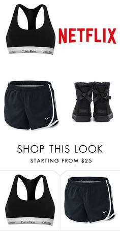 """""""Chill time 😘💋✨x"""" by miakennedyx ❤ liked on Polyvore featuring Calvin Klein, NIKE and UGG"""