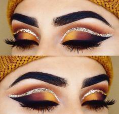 Matte Makeup, Red Makeup, Eye Makeup Art, Makeup Set, Eyeshadow Makeup, Eyeshadow Palette, Makeup Brushes, Yellow Makeup, Metallic Eyeshadow