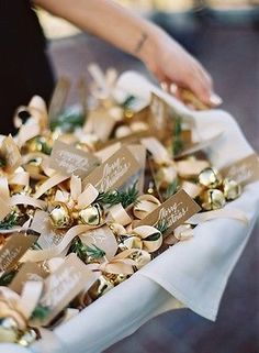 Planning a holiday wedding? Use jingle bells for your exit! Christmas Wedding Favor Ideas | eBay