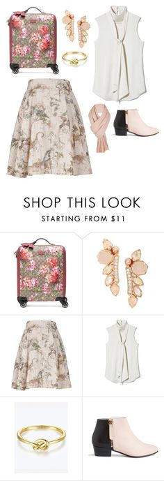 """""""Travel Chic"""" by lavenderantelope ❤ liked on Polyvore featuring Gucci, Kendra Scott, Melissa McCarthy Seven7, Vince Camuto, Nine to Five, Free People and plus size clothing"""