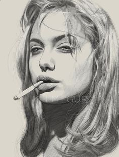 Pencil Portrait Mastery - Angie by Kei Meguro, via Behance - Discover The Secrets Of Drawing Realistic Pencil Portraits