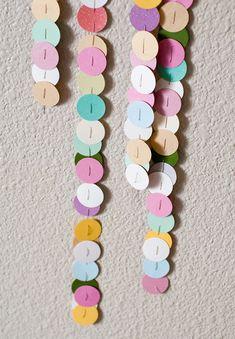 DIY tutorial adornos o guirnaldas de colores para fiestas decoracion