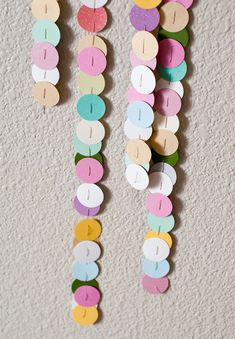 Guirnalda de circulos de papel