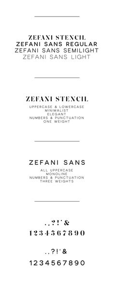 Zefani - Free Type Family on Behance