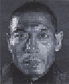 "Zhang Huan II, 2008-2009. oil on canvas, 101-1/2"" x 84"" (257.8 cm x 213.4 cm)."