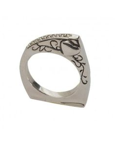 Montana Silversmiths Follow Your Heart Silver Band Ring Oh my goodness I love this moooo