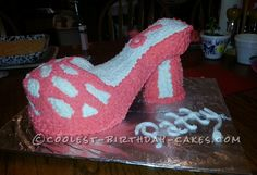 Coolest High Heel Birthday Cake... This website is the Pinterest of birthday cake ideas
