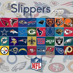 All your favorite NFL slippers.. right at your fingertips.  Shop your favorite team's slippers today at www.Slippers.com!  Comment below with your favorite team!  #Slippers #Sandals #FlipFlops #NFL
