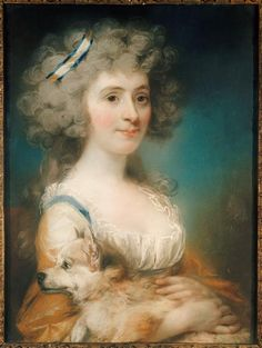 Portrait de Miss Power, plus tard Mrs Shea Auteur : John Russell (1745-1806) 1789