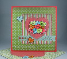 How You Bean? Conversation Hearts Add On stamps and dies and Lacy Hearts Stackables Dies from Lawn Fawn; Everyday Enchantment Designer Series Paper from Stampin' Up! - Designed by Cindy Major