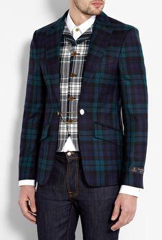 Tartan Wool Attached Waistcoat Blazer by Vivienne Westwood