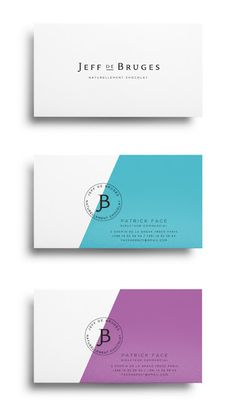 Jeff de Bruge on Packaging of the World - Creative Package Design Gallery business card branding visual corporate identity stationary minimal