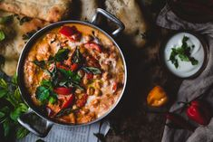 Tikka masala kikherneillä (V, GF) – Viimeistä murua myöten Garam Masala, Naan, Chutney, Plant Based, Chili, Side Dishes, Curry, Goodies, Vegetarian