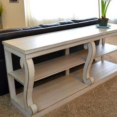 Console Table with Scroll Legs