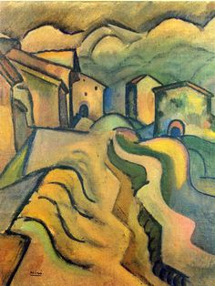 Joan Miro Paseo a La Ciudad, 1917 print for sale. Shop for Joan Miro Paseo a La Ciudad, 1917 painting and frame at discount price, ships in 24 hours. Hieronymus Bosch, Spanish Painters, Spanish Artists, Pablo Picasso, Joan Miro Paintings, Oil Paintings, Maurice De Vlaminck, Abstract Painting Techniques, Magritte