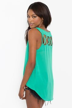 Lattice Chiffon Tank $38.00 on Nasty Gal, So cute!<3