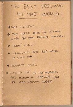 The best feelings in the world.