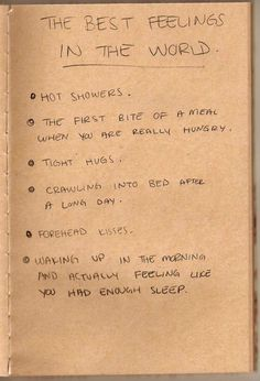 The best feelings in the world.