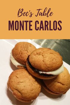 At Bake Club we tested 8 different recipes for Monte Carlos.  These were our favourite.  Try this recipe you'll love it. #Monte Carlos #Cookies #delicious #Sweet #Biscuit