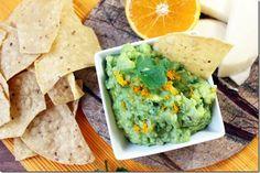 Enjoy some funky and fresh tasting guac! // Jicama & Orange Guacamole via From the Little Yellow Kitchen