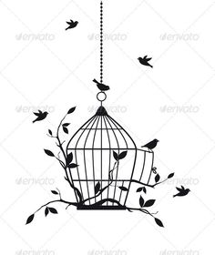 bird cage tattoo - Google Search